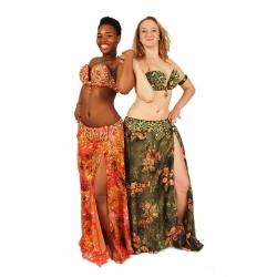 Bauchtanz-Kostüm mit floralem Muster