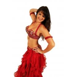 Bauchtanz-Kostüm im Flamenco-Stil