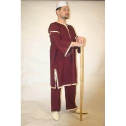 F231: Folkloreset aus kurzer Galabeya und Hose